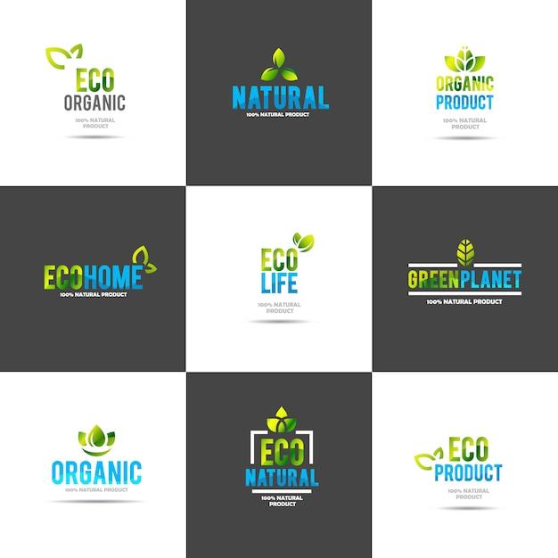 Szablon logo koncepcja kreatywnych zielony dom Darmowych Wektorów