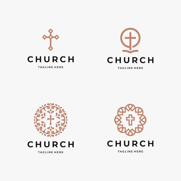 Szablon Logo Kościoła Premium Wektorów