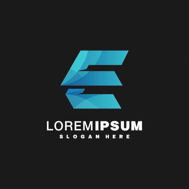 Szablon logo litera e. Premium Wektorów