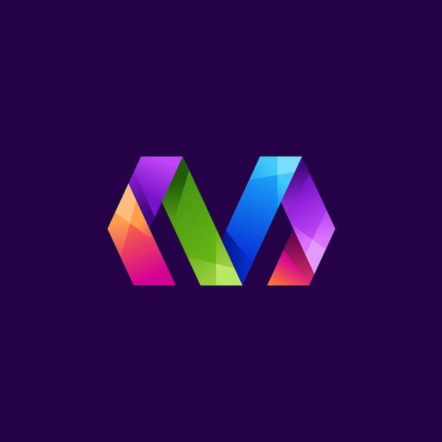Szablon Logo Litera M Premium Wektorów