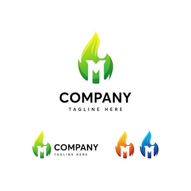 Szablon Logo Litery M. Premium Wektorów