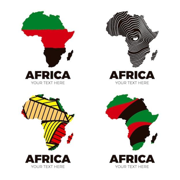 Szablon Logo Mapy Afryki Darmowych Wektorów