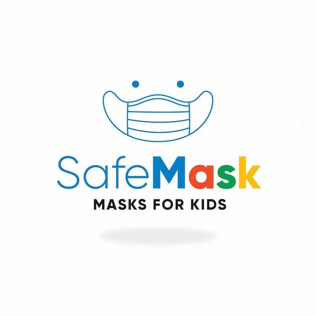 Szablon Logo Maski Na Twarz Premium Wektorów