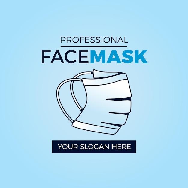 Szablon Logo Maski Na Twarz Darmowych Wektorów