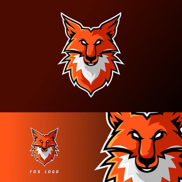 Szablon logo maskotka gry fox esport Premium Wektorów