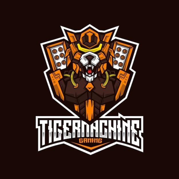 Szablon Logo Maszyny Tiger Esport Premium Wektorów