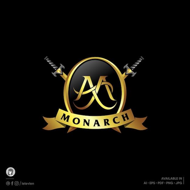 Szablon Logo Monarchy Premium Wektorów