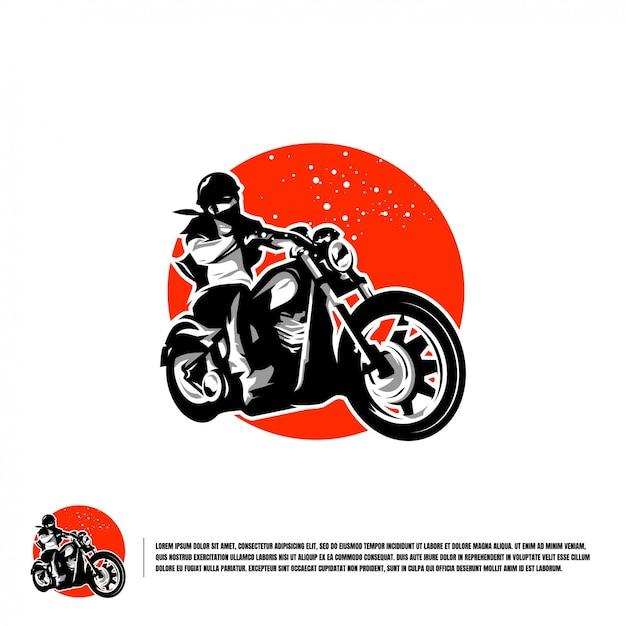 Szablon Logo Motocykla Premium Wektorów