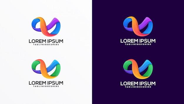 Szablon Logo Nieskończoności Premium Wektorów