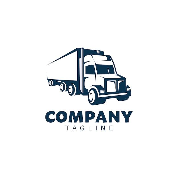 Szablon Logo Odznaka Retro Ciężarówka Premium Wektorów