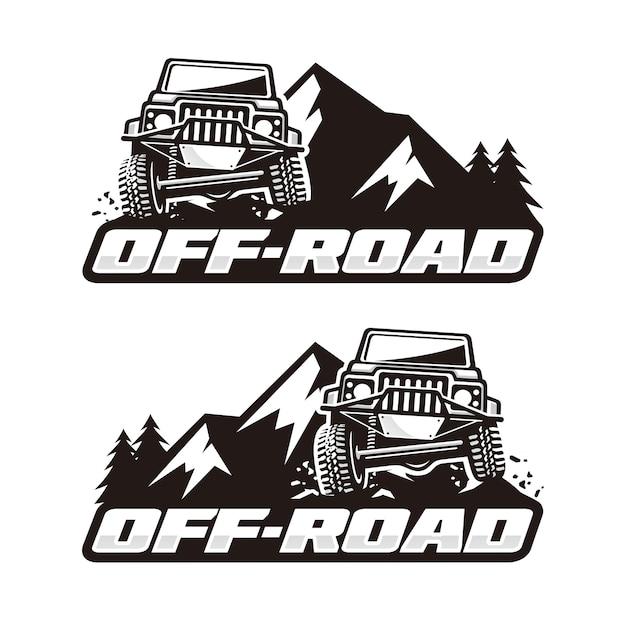 Szablon logo off road Premium Wektorów