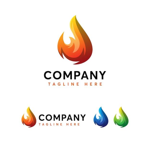 Szablon Logo Ognia Ognia Premium Wektorów