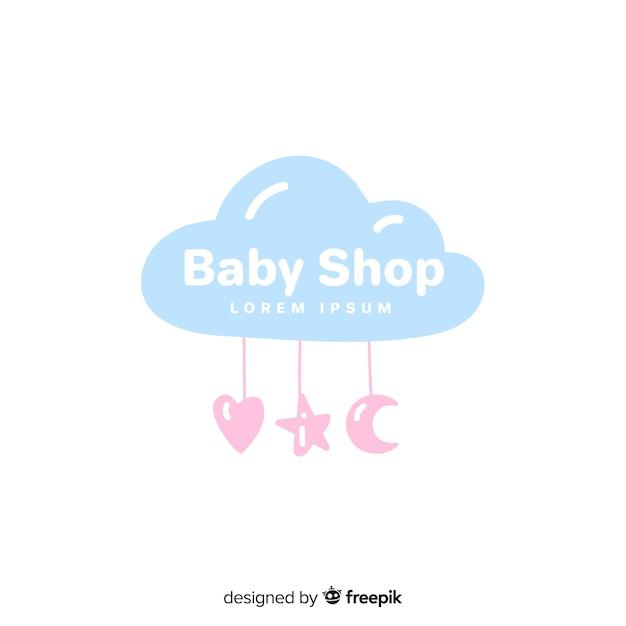 Szablon logo piękny sklep dla dzieci Darmowych Wektorów