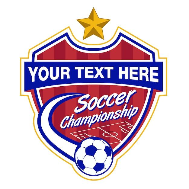 Szablon logo piłki nożnej Premium Wektorów