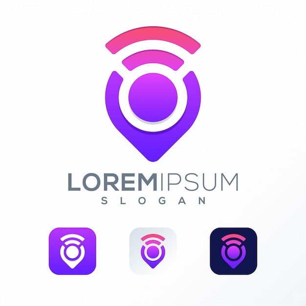 Szablon Logo Pin Premium Wektorów
