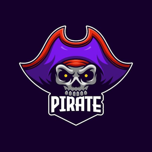 Szablon Logo Pirata E-sport Premium Wektorów