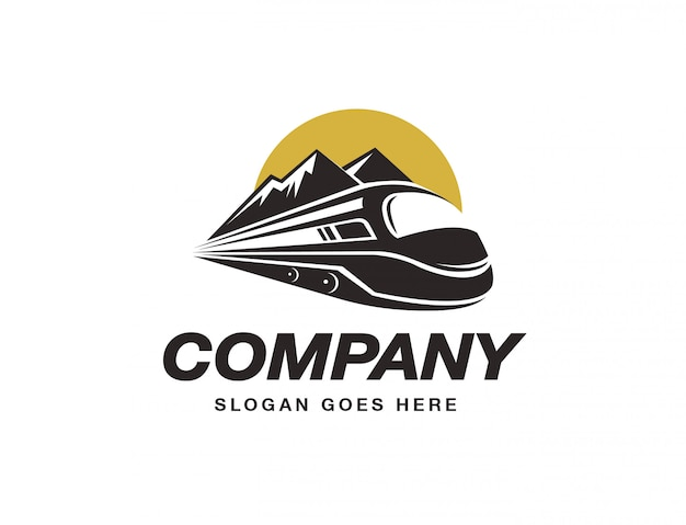 Szablon Logo Pociągu Ekspresowego Premium Wektorów