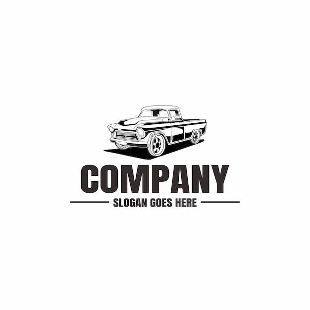 Szablon Logo Pojazdu. Ikona Samochodu Dla Biznesu. Wynajem, Naprawa, Garaż Sklepowy. Premium Wektorów