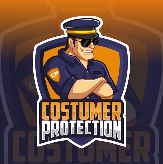 Szablon logo policji Premium Wektorów