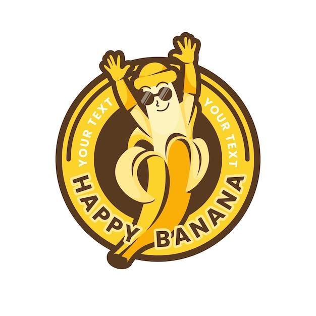 Szablon Logo Postaci Banana Darmowych Wektorów