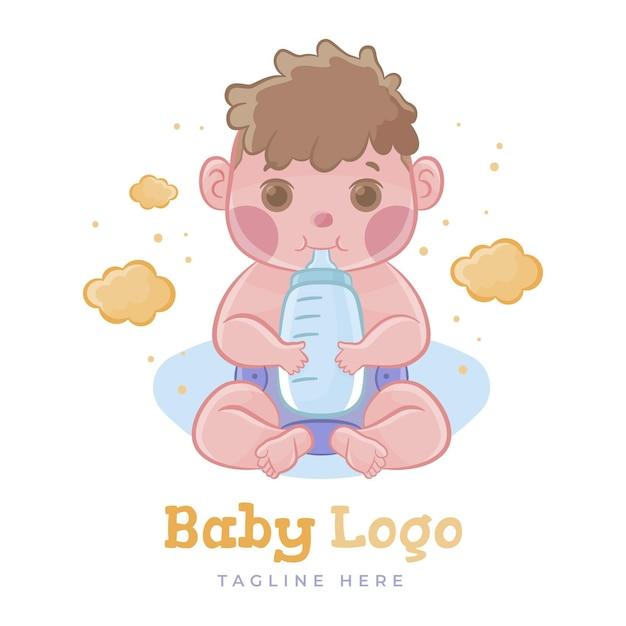 Szablon Logo Słodkie Dziecko Darmowych Wektorów