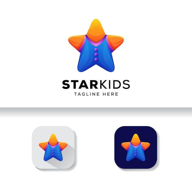 Szablon Logo Star Dla Dzieci Premium Wektorów