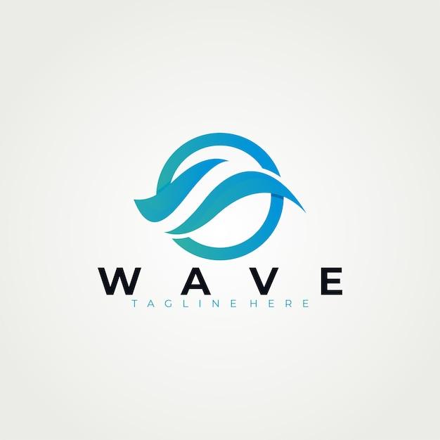 Szablon Logo Wave Premium Wektorów