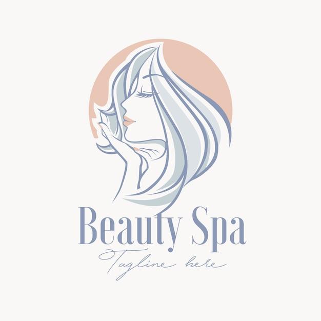 Szablon Logo Zabiegi Kosmetyczne Spa Premium Wektorów
