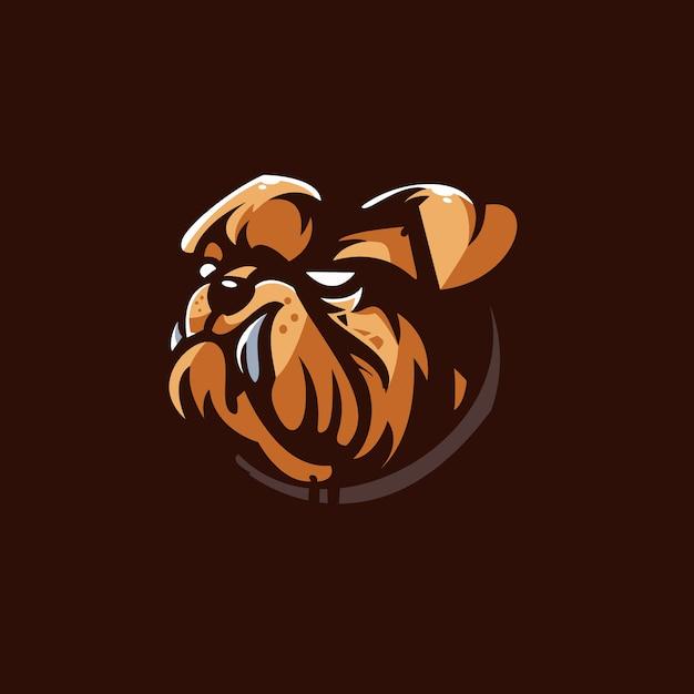 Szablon Logo Zespołu Bull Dog E-sport Premium Wektorów