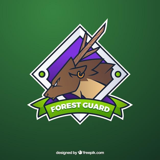 Szablon logo zespołu e-sport z jelenia Darmowych Wektorów
