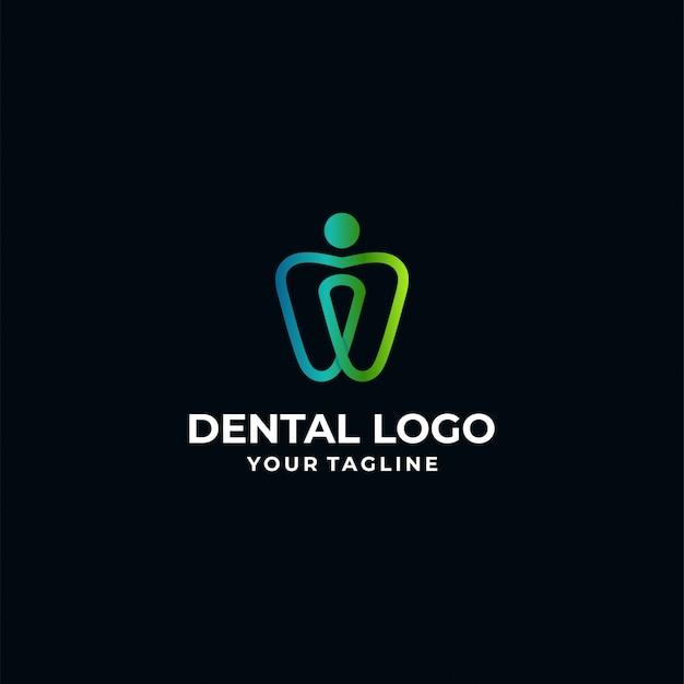 Szablon logotypu dentystycznego Premium Wektorów