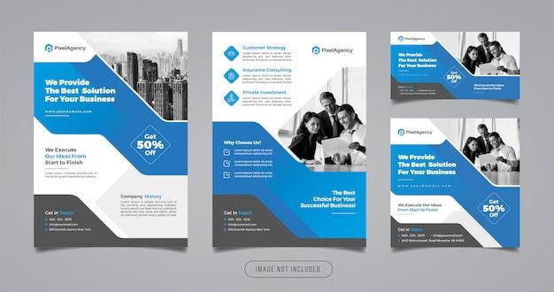 Szablon Mediów Społecznościowych I Ulotek Agencji Kreatywnych Premium Wektorów