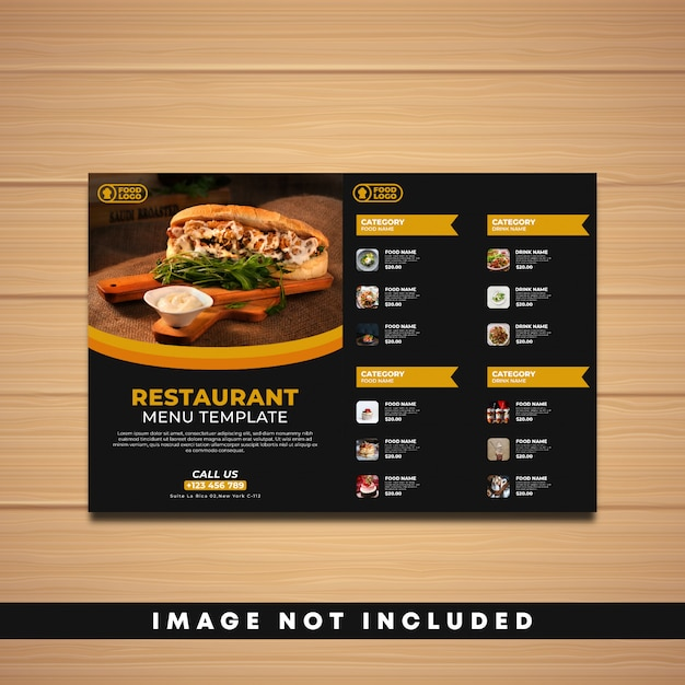 Szablon menu restauracji Premium Wektorów