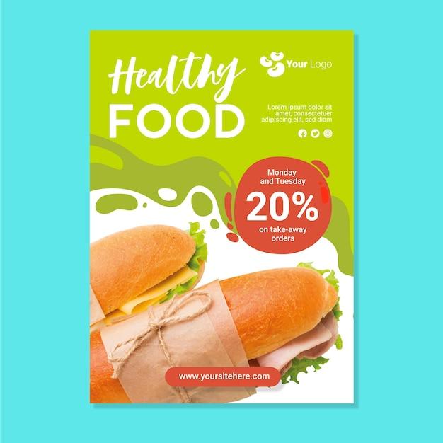 Szablon Menu Zdrowej żywności Darmowych Wektorów