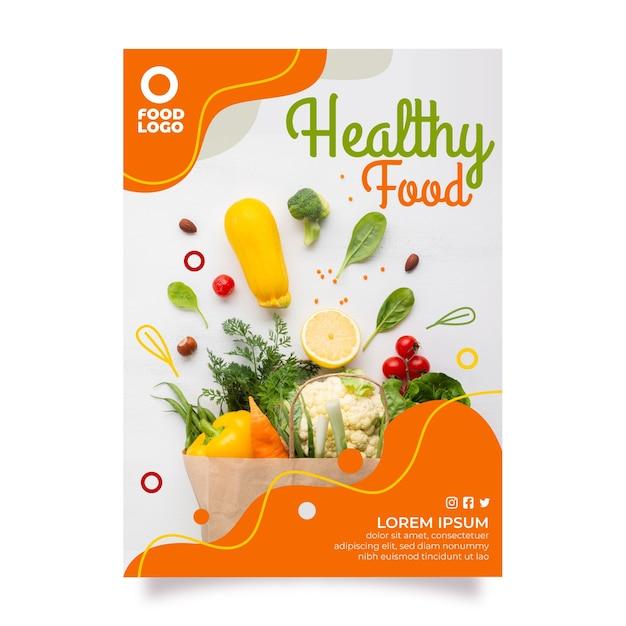 Szablon Menu Zdrowej żywności Premium Wektorów