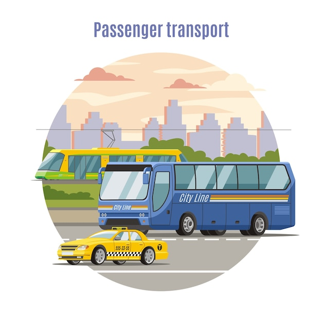 Szablon Miejskich Pojazdów Pasażerskich Darmowych Wektorów