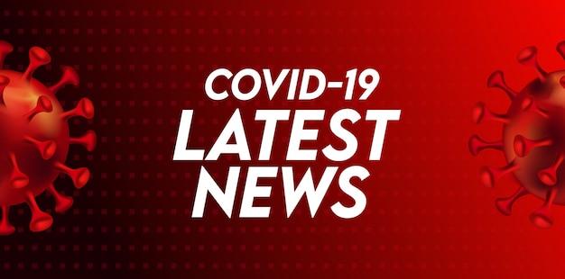 Szablon Nagłówka Najnowszych Wiadomości Covid-19 Premium Wektorów