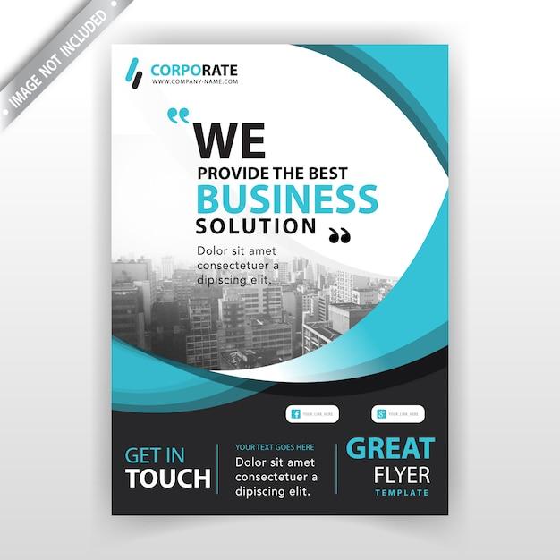 Szablon okładki broszury firmy Darmowych Wektorów
