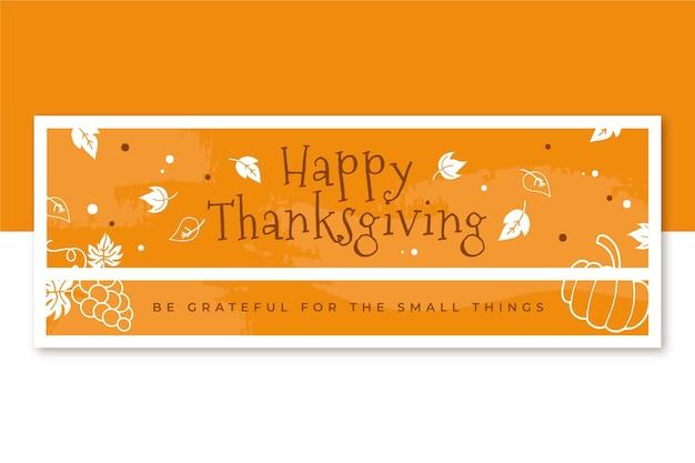Szablon Okładki Facebook Dziękczynienia Darmowych Wektorów