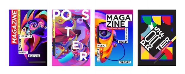 Szablon okładki i plakatu dla magazynu Premium Wektorów