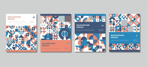 Szablon Okładki Minimalistyczny Geometryczny. Premium Wektorów