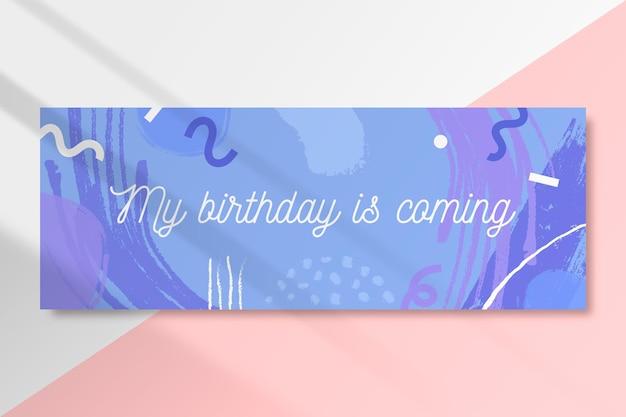 Szablon Okładki Na Facebooku Urodzinowym Darmowych Wektorów