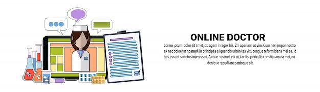 Szablon Online Transparent Koncepcja Lekarz Medycyny Mobilnej Aplikacji Premium Wektorów