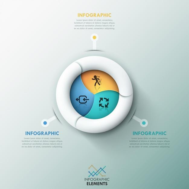 Szablon opcje nowoczesne spirala infografiki Premium Wektorów