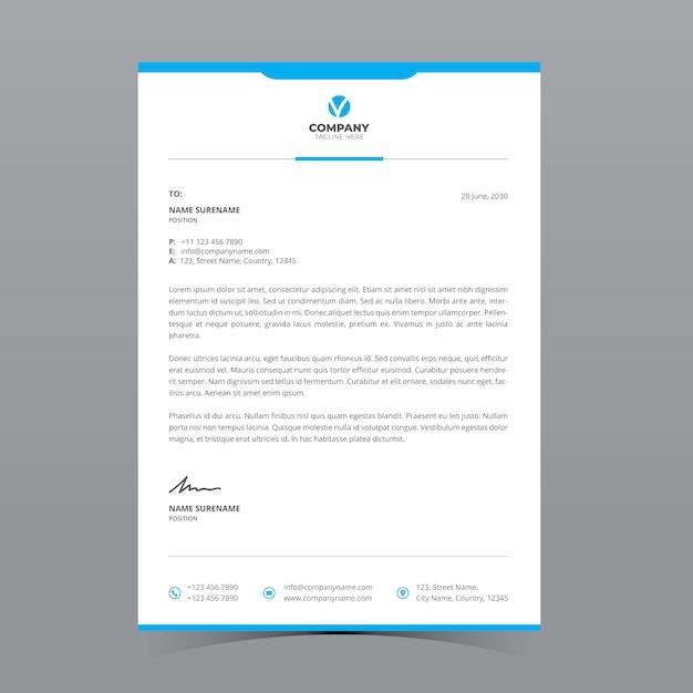 Szablon Papieru Firmowego A4 Premium Wektorów