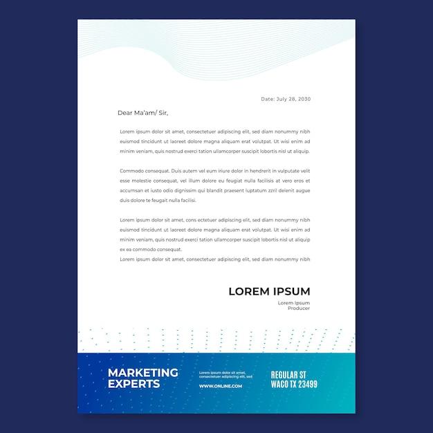 Szablon Papieru Firmowego Marketingowego Darmowych Wektorów