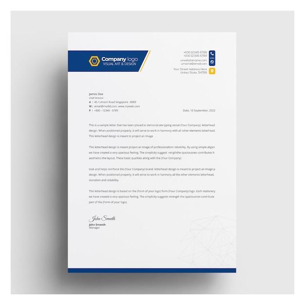 Szablon Papieru Firmowego Premium Wektorów