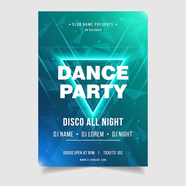 Szablon plakat impreza muzyka impreza dance party Premium Wektorów