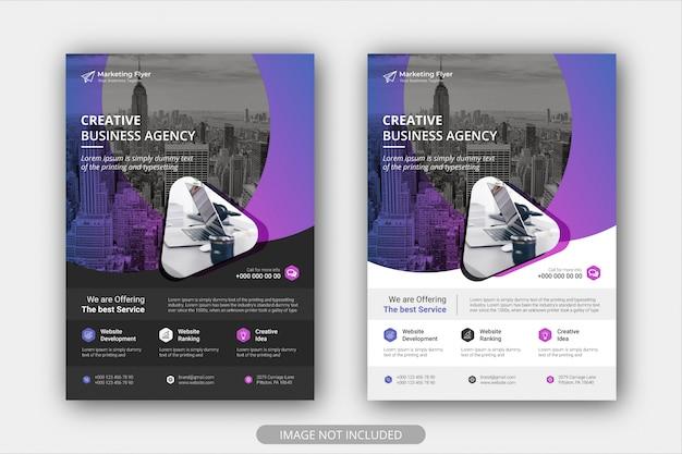 Szablon Plakat Korporacyjny Ulotki Z Kolorem Gradientu. Broszura Projekt Układ Tło Premium Wektorów