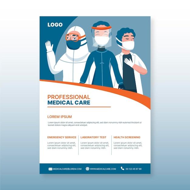 Szablon Plakat Medyczny Opieki Zdrowotnej Premium Wektorów